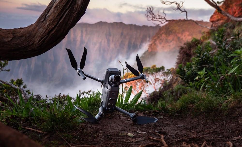 dji-mavic-drone-in-the-forrest
