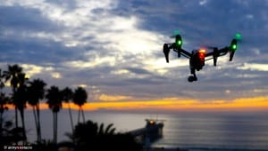 inspire 1 drone on sunset