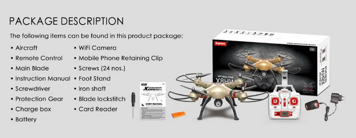Syma-X8HW-package