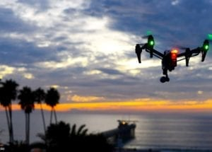 Drone on sunset. Author : Aldryn Estacio.