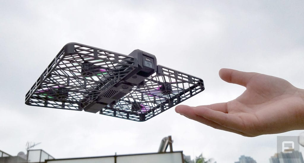 Hover Camera drone in hand