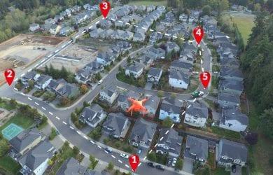 autonomous drone with waypoints