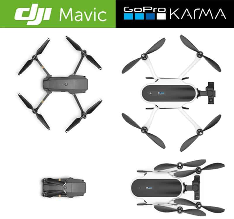 DJI Mavic Pro Vs GoPro Karma Portability