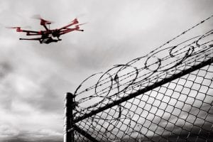 Drones smuggling in prisons