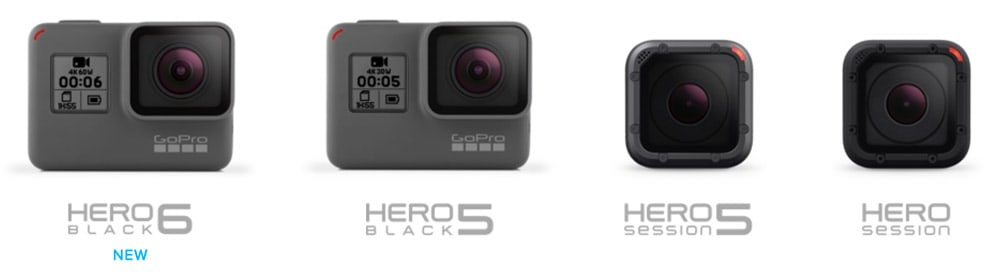 GoPro cameras compared