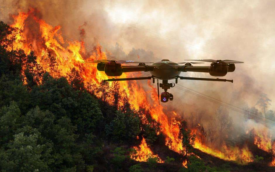 firefighting drones