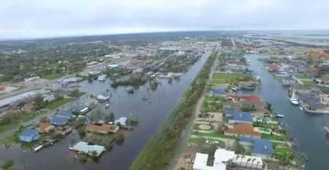 harvey floodings taken by a drone