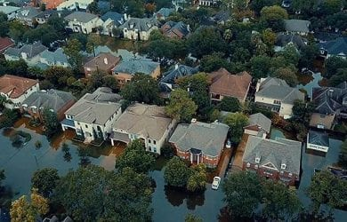 hurricane harvey impact taken by a drone