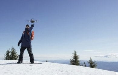 snowboarding drone