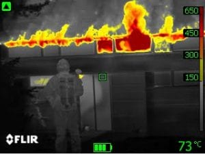 thermal imaging drone firefighting