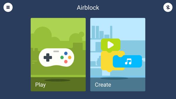 AirBlock App Play Create