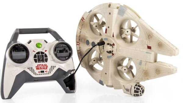 Air Hogs Star Wars Remote Control Millennium Falcon Drone Transmitter Charge