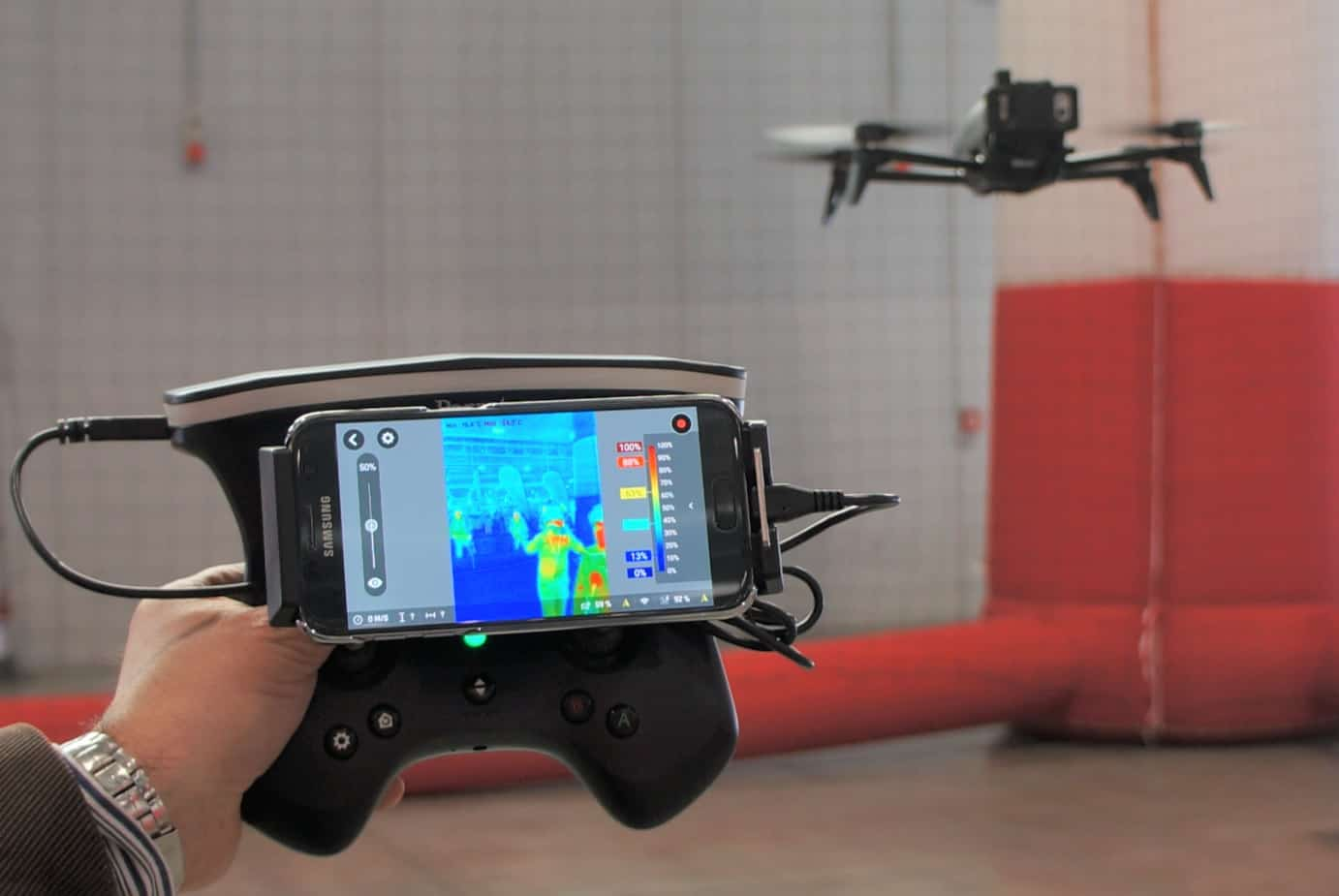 Review Parrot Bebop Pro Thermal Drone With Flir Camera