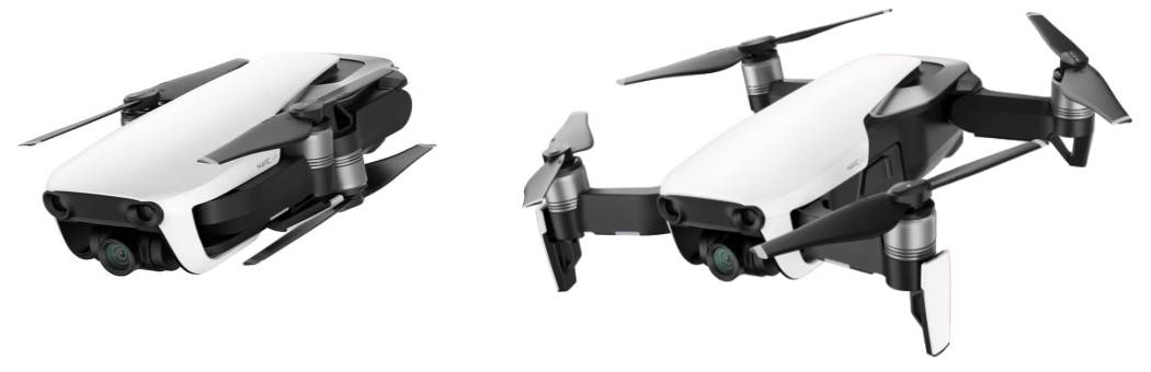 DJI Mavic Air Folded Unfolded