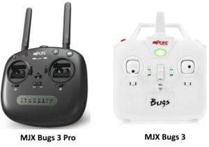 MJX Bugs 3 Pro vs MJX Bugs 3 Transmitters
