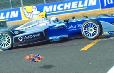 drone vs formula 1 race